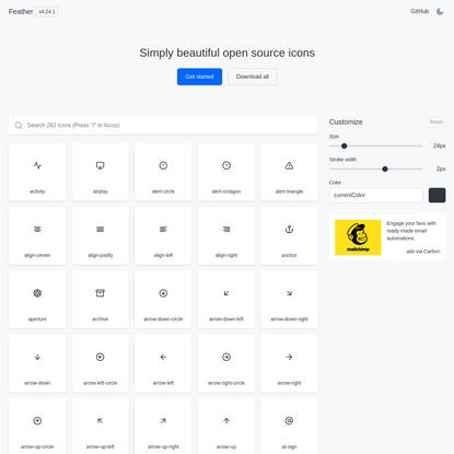 Feather - Simply beautiful open source icons