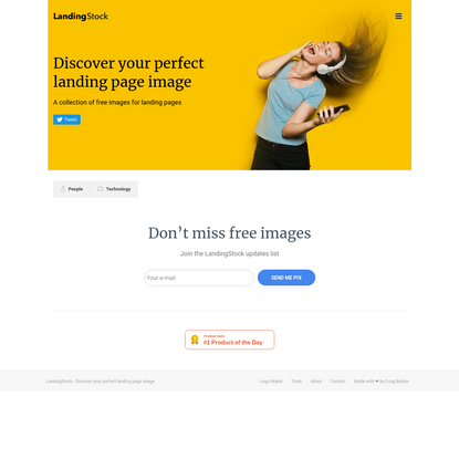 LandingStock - Free images for your landing page.