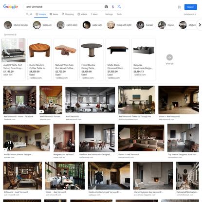axel vervoordt - Google Search