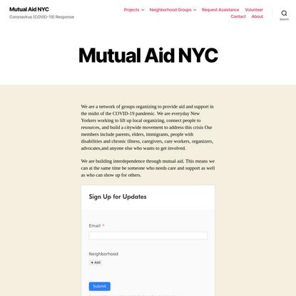 Mutual Aid NYC