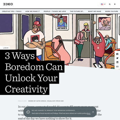 3 Ways Boredom Can Unlock Your Creativity