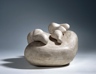 Hans Arp, Three annoying objects on one face (1930; plaster, 19 x 37 x 29.5 cm; Silkeborg, Museum Jorn)