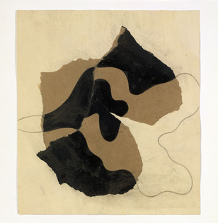 Hans Arp, Untitled (dessin déchiré) (1934; collage of torn paper, ink and pencil, 24.5 x 22 cm; Berlin / Rolandswerth, Stiftung Arp eV)