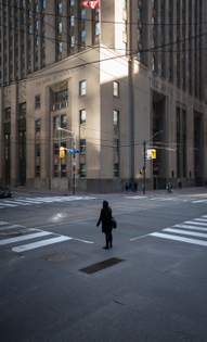 9:25 a.m. ET on March 16: the intersection of King St. West and Bay St. in Toronto.