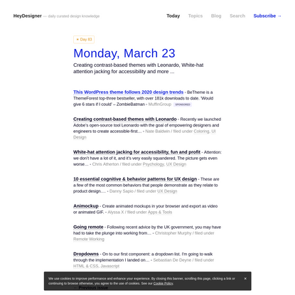 HeyDesigner - Design news. Curated daily.
