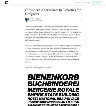 17 Modern Alternatives to Helvetica for Designers