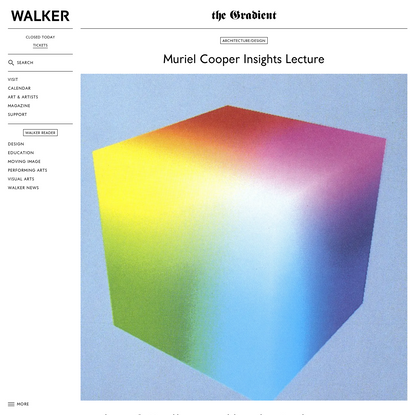 Muriel Cooper Insights Lecture
