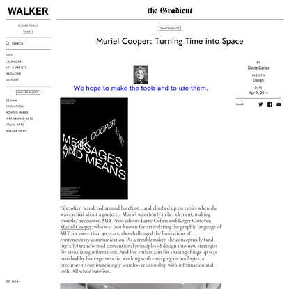 Muriel Cooper: Turning Time into Space