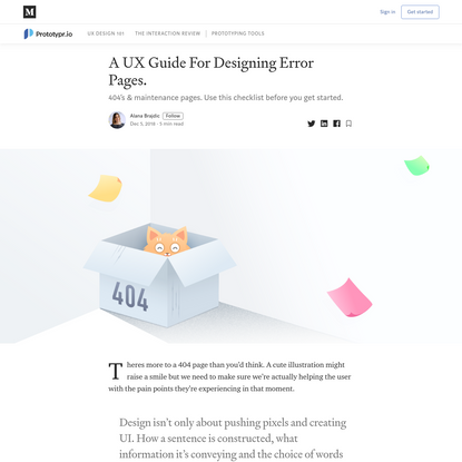 A UX Guide For Designing Error Pages.