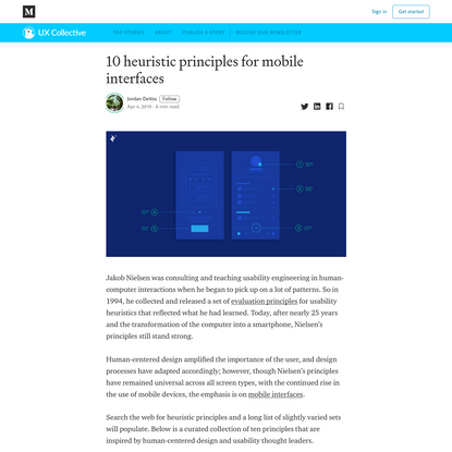 10 heuristic principles for mobile interfaces