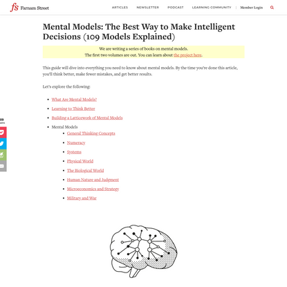 Mental Models: The Best Way to Make Intelligent Decisions (109 Models Explained)