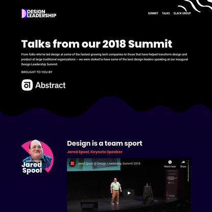Design Leadership Summit 2018