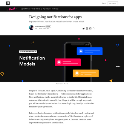 Designing notifications for apps