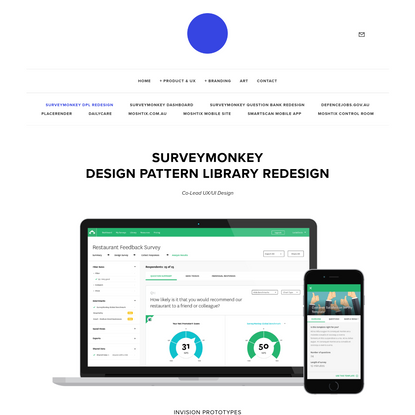 SurveyMonkey DPL Redesign - Lucia Ciccio' * Product Designer