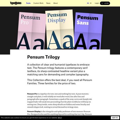 TypeMates - Pensum Trilogy