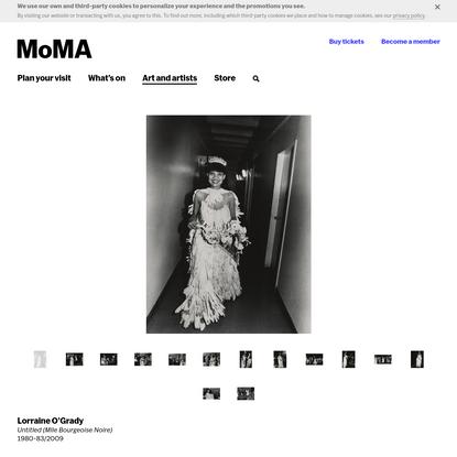 Lorraine O'Grady. Untitled (Mlle Bourgeoise Noire). 1980-83⁄2009   MoMA