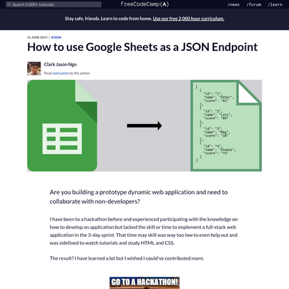 How to use Google Sheets as a JSON Endpoint