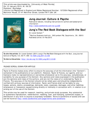 Jung's The Red Book Dialogues with the Soul (2011)