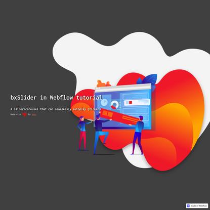 bxSlider in Webflow tutorial