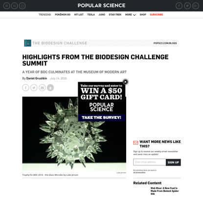 Highlights from the Biodesign Challenge Summit