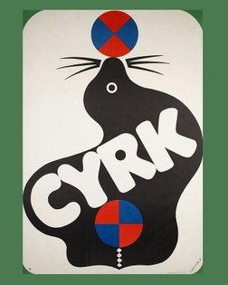 1971 Polish Circus poster by Jerzy Treutler #polishposter #posterdesign #jerzytreutler #cyrk #typography #themodernanimal