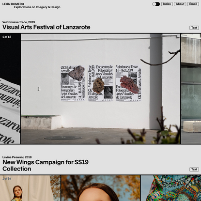 LEÓN ROMERO | Explorations on Imagery & Design