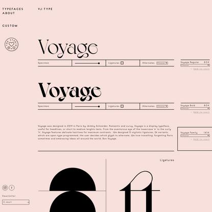 Voyage - VJ-TYPE
