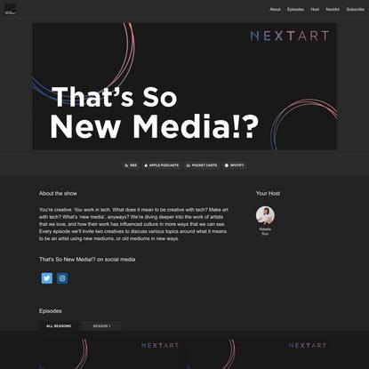 That's So New Media!?