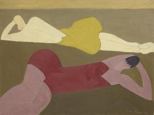 Milton Avery, Two Figures on Beach, 1950