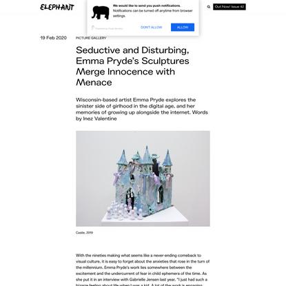 Seductive and Disturbing, Emma Pryde's Sculptures Merge Innocence with Menace - ELEPHANT