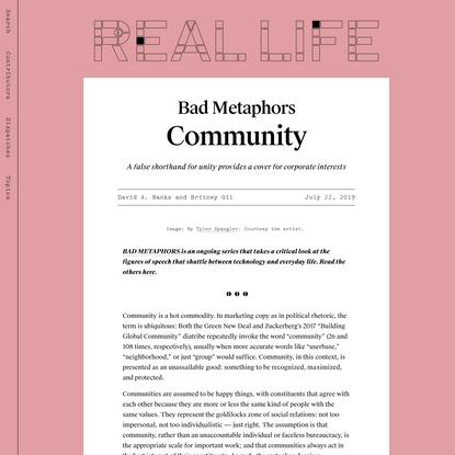 Community — Real Life