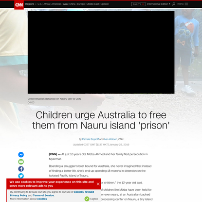 Children in detention urge Australia to free them