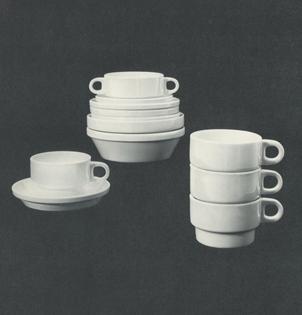Stacking Tableware, 1963.