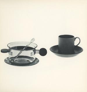 Tea Glass and Saucer, 1925. Demitasse and Saucer, 1768.