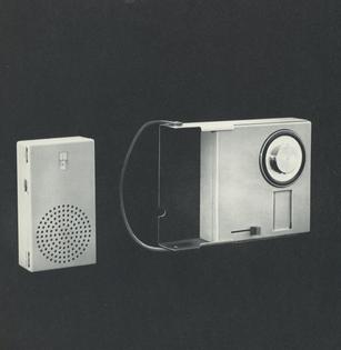 Portable Radio and Photograph. 1959.