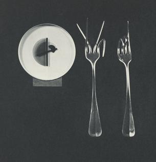 Clock, 1962. Forks, 1964.