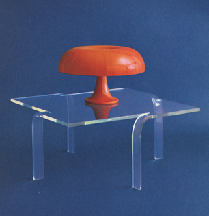 Lamp, 1966. Cocktail Table, 1966.