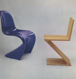Side Chair, 1968. Side Chair, 1934 (replica).