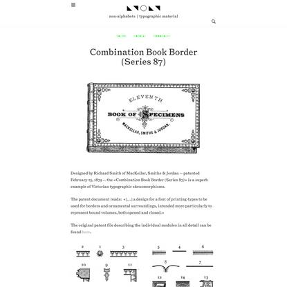 Combination Book Border (Series87) – ◣◥ ◯ ◣◥