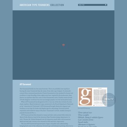 ATF Garamond by Morris Fuller Benton, Mark van Bronkhorst / American Type Founders Collection