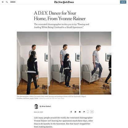 A D.I.Y. Dance for Your Home, From Yvonne Rainer