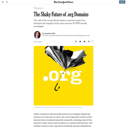 Opinion | The Shaky Future of .org Domains