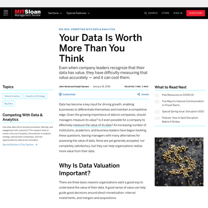 Your Data Is Worth More Than You Think
