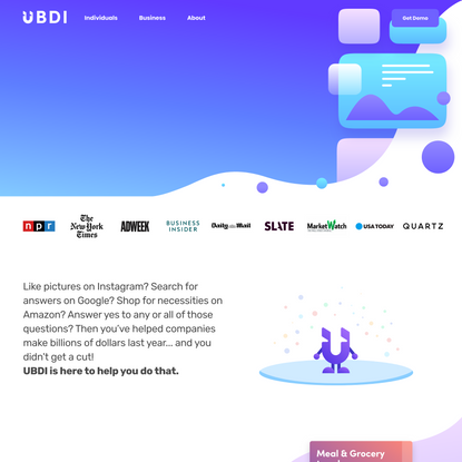 UBDI - Universal Basic Data Income