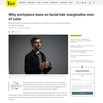 Why workplace bans on facial hair marginalize men of color