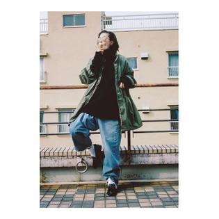 LOOKBOOK #14 VINTAGE REWORK BIGGY PANTS OPERA SHOES PHOTO @sugurusaito26 HAIR @takayukiitokato @kiito_hairsalon MAKE @mayuyaji MODEL @emimatsushima #MAISONEUREKA #LOOKBOOK #2015AW #VINTAGE #SHOES #BAG #TOKYO #BERLIN #FASHION
