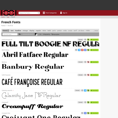 33 Free French Fonts · 1001 Fonts