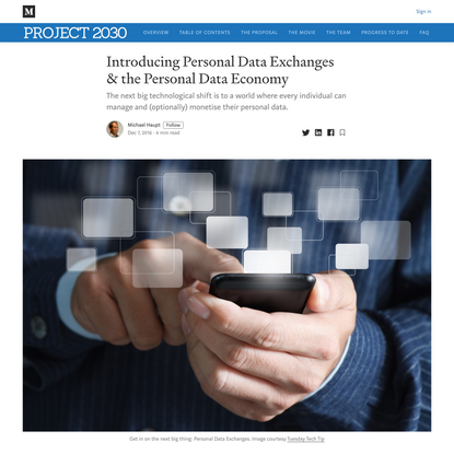 Introducing Personal Data Exchanges & the Personal Data Economy