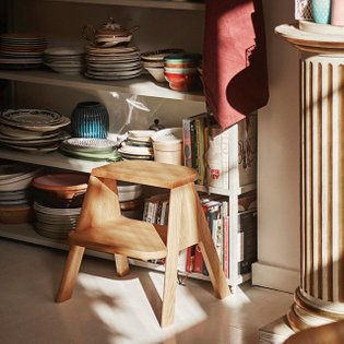 Designed by Shane Schneck, Butler is the perfect household helper, functioning as a step ladder for the kitchen, an extra se...