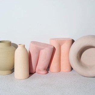 @new.material pastel still life🥚 . . . . . . . . . #ceramics #sculpturalceramics #sculpture #vases #modernceramics #pastelae...